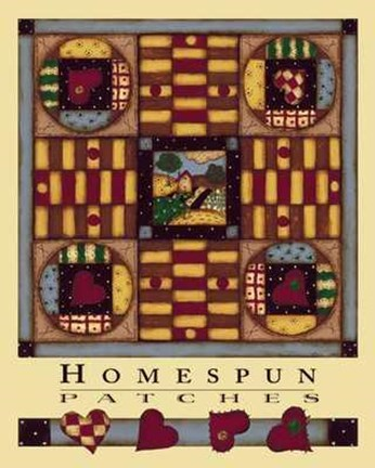 Framed Homespun Patches Print