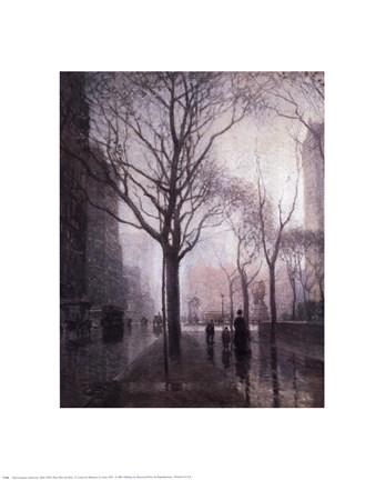 Framed Plaza After the Rain Print