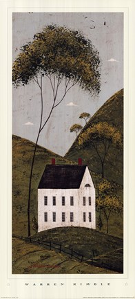 Framed Country Panel III - House Print