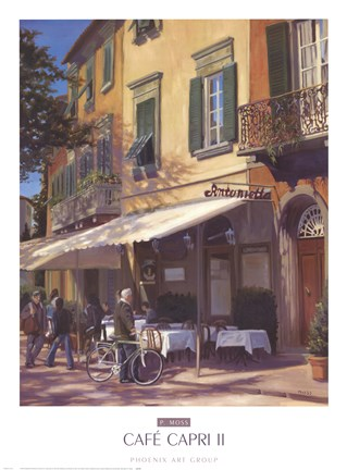 Framed Cafe Capri II Print