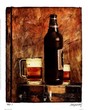 Framed Beer 3 Print