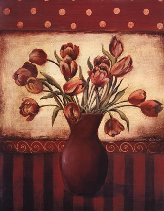 Framed Red Tulips - Grande Print