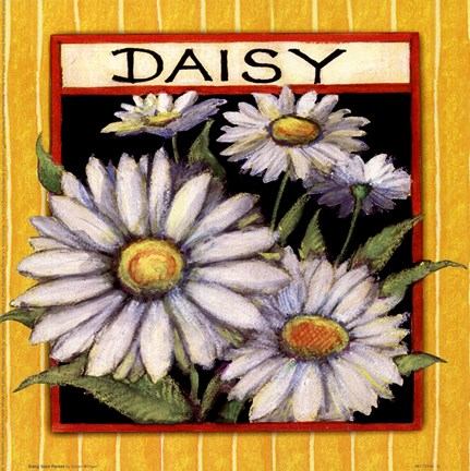 Framed Daisy Seed Packet Print