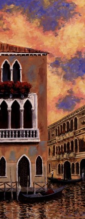 Framed Venice Sunset II Print