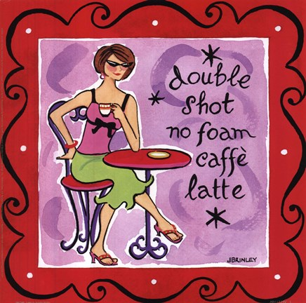 Framed Girl Talk-Latte Print
