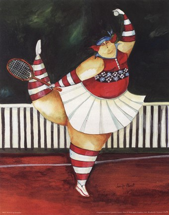 Framed Serve It Up Ernestine Print