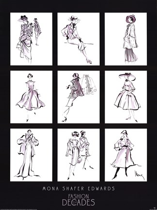 Framed Fashion Through The Decades Print