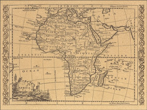 Map Of Africa In 1800.Africa 1800