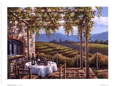 Vineyard Terrace Fine Art Print By Sung Kim At