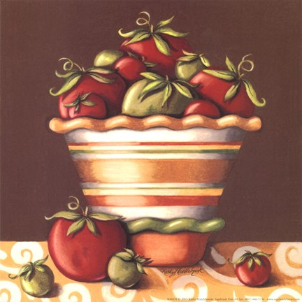 Framed Tomatoes In A Bowl Print