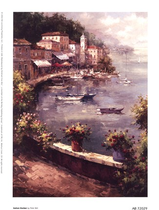 Framed Italian Harbor Print