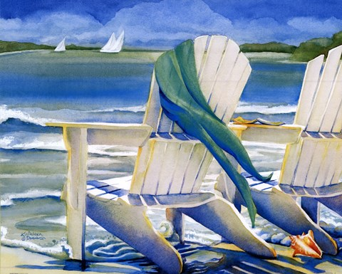 Seaside Breeze Fine Art Print By Kathleen Denis At