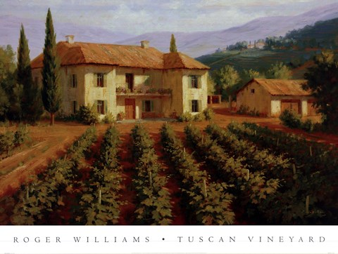 Tuscan Vineyard Fine Art Print By Roger Williams At