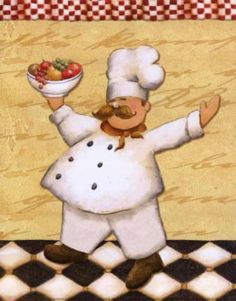 Le Chef Et Le Fruits Fine Art Print By Daphne Brissonnet