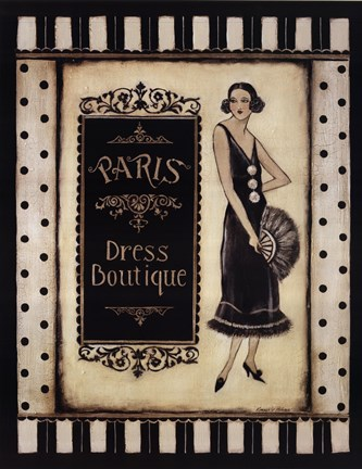Framed Paris Dress Boutique Print