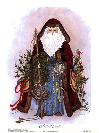 Celestial Santa Fine Art Print By Peggy Abrams At