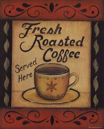 Framed Fresh Roasted Coffee Print