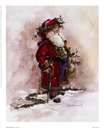 Olde World Santa Fine Art Print By Peggy Abrams At