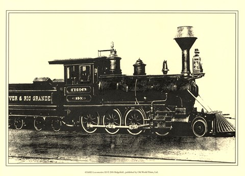 Framed Locomotive III Print
