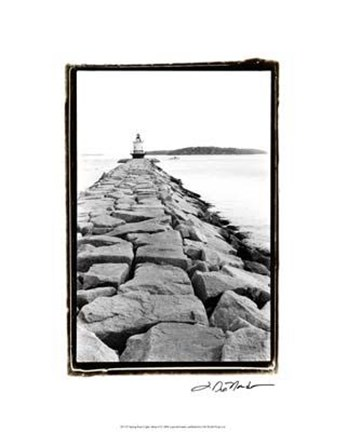 Framed Spring Point Light, Maine II Print