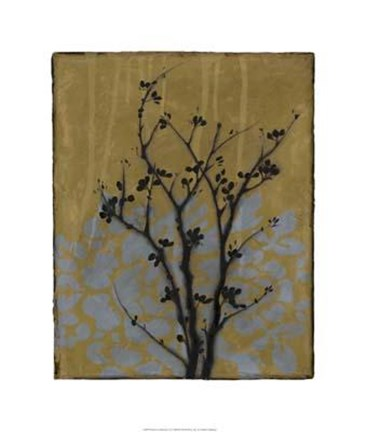 Framed Branch In Silhouette VI Print