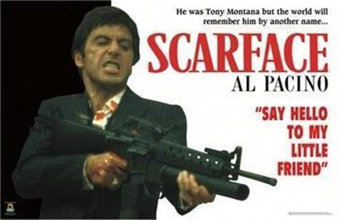 Scarface Horizontal Gun Wall Poster By Unknown At Fulcrumgallerycom