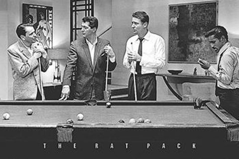 Framed Rat Pack-Shooting Pool Print