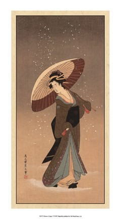 Framed Women Of Japan V Print