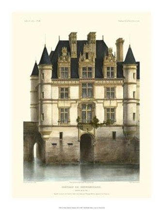 Framed Petite French Chateaux XI Print