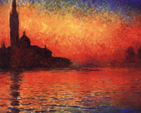 San Giorgio Maggiore At Twilight Dusk In Venice C 1908