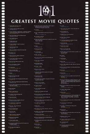 Framed 101 Greatest Movie Quotes Print