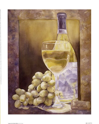 Framed Grapes And Chenin Blanc Print