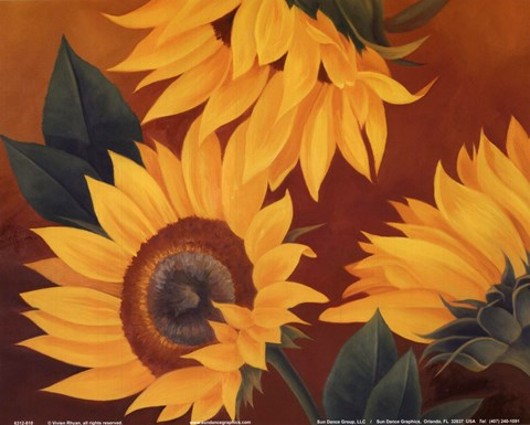 Framed Sunflowers II Print