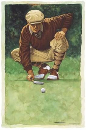 The Art Of Golf The Line Fine Art Print By Glen Green At