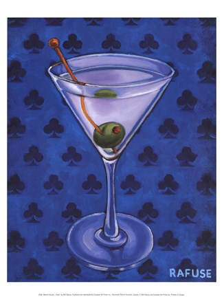 Framed Martini Royale - Clubs Print