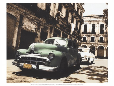 Framed Cuban Cars II Print