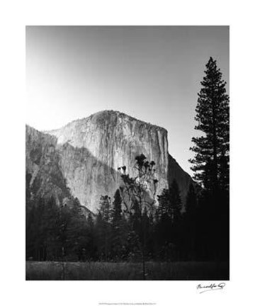 Framed El Capitan In Shadow Print