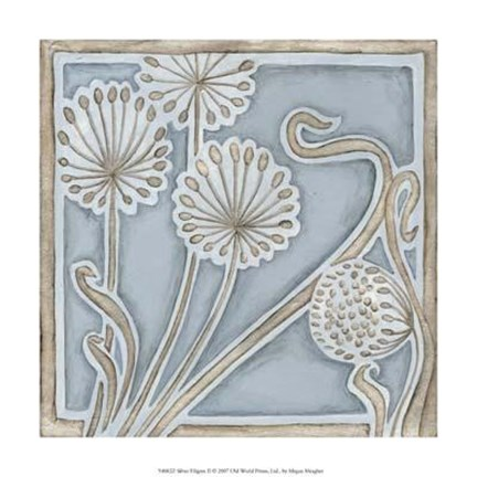 Framed Silver Filigree II Print