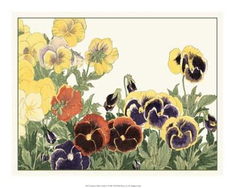 Framed Japanese Flower Garden V Print
