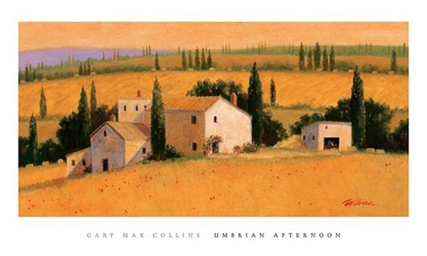 Framed Umbrian Afternoon Print