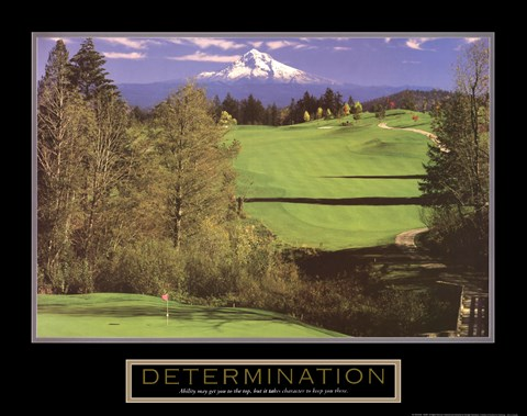 Framed Determination – Golf Print