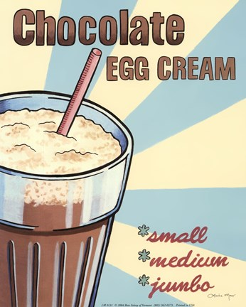 Framed Chocolate Egg Cream Print