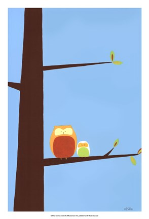 Framed Tree-top Owls I Print