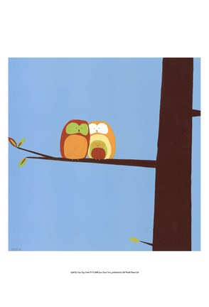Framed Tree-top Owls IV Print