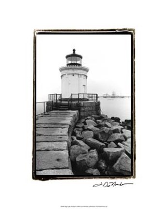 Framed Bug Light, Portland Print