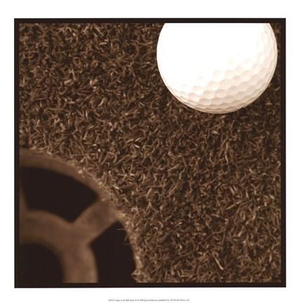 Framed Sepia Golf Ball Study II Print
