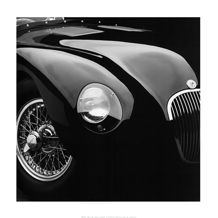 Framed Jaguar C-Type Print