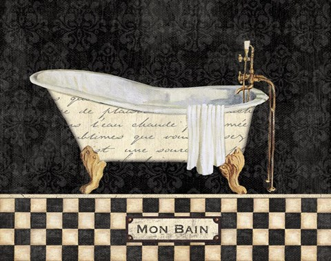 Framed French Bathtub I Print