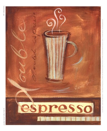 Framed Coffee Cafe III Print