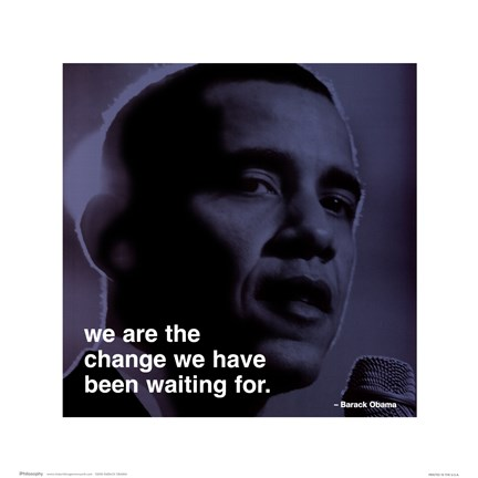 Framed Barack Obama - iPhilosophy - Change Print